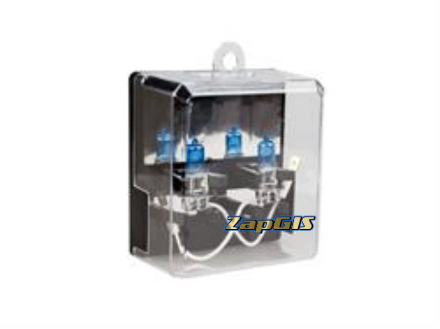 Автолампа h3 12v 55w (pk22s) kraft pro xenon (2шт