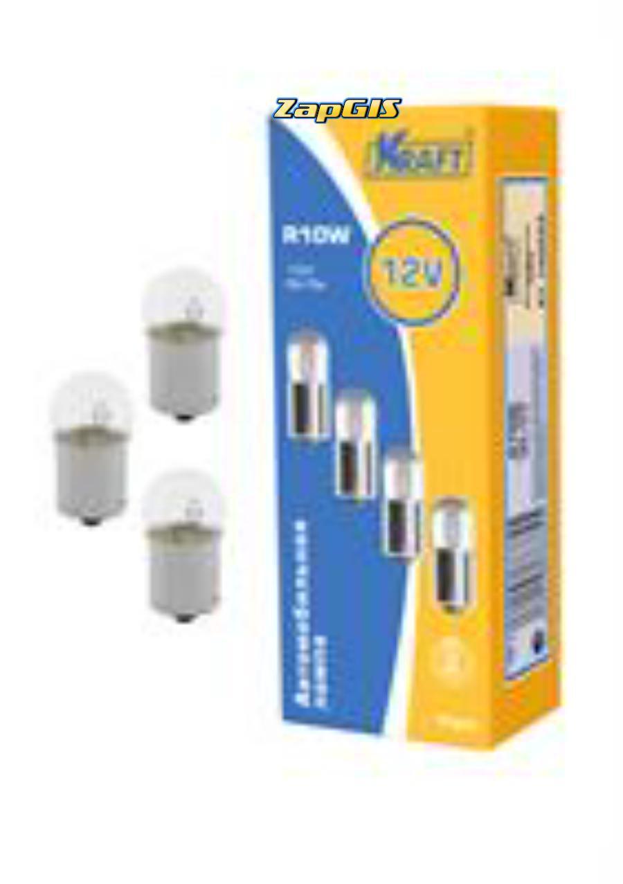 Лампа накаливания r10w (a 12v 10w) 12v10w (ba15s)