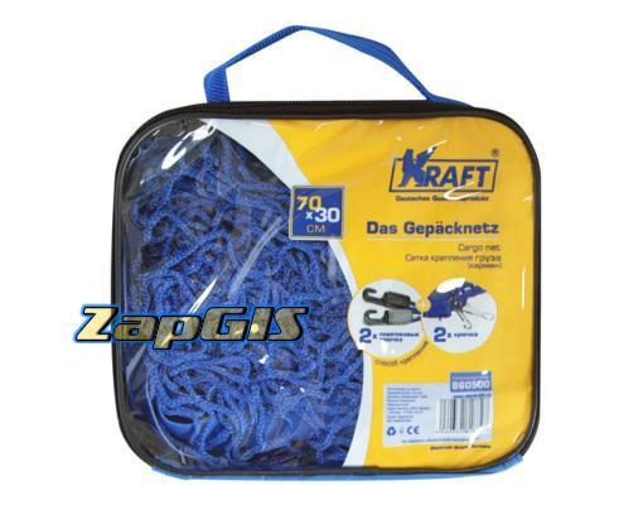 Сетка крепления груза 70х30 см (карман), KRAFT