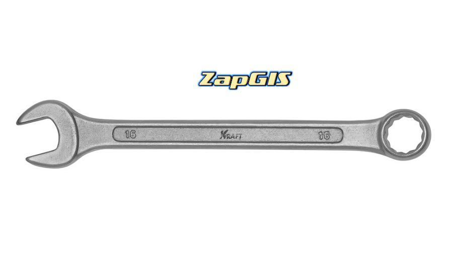 Ключ комбинированный 16мм cталь crv50bv30 тв рдост