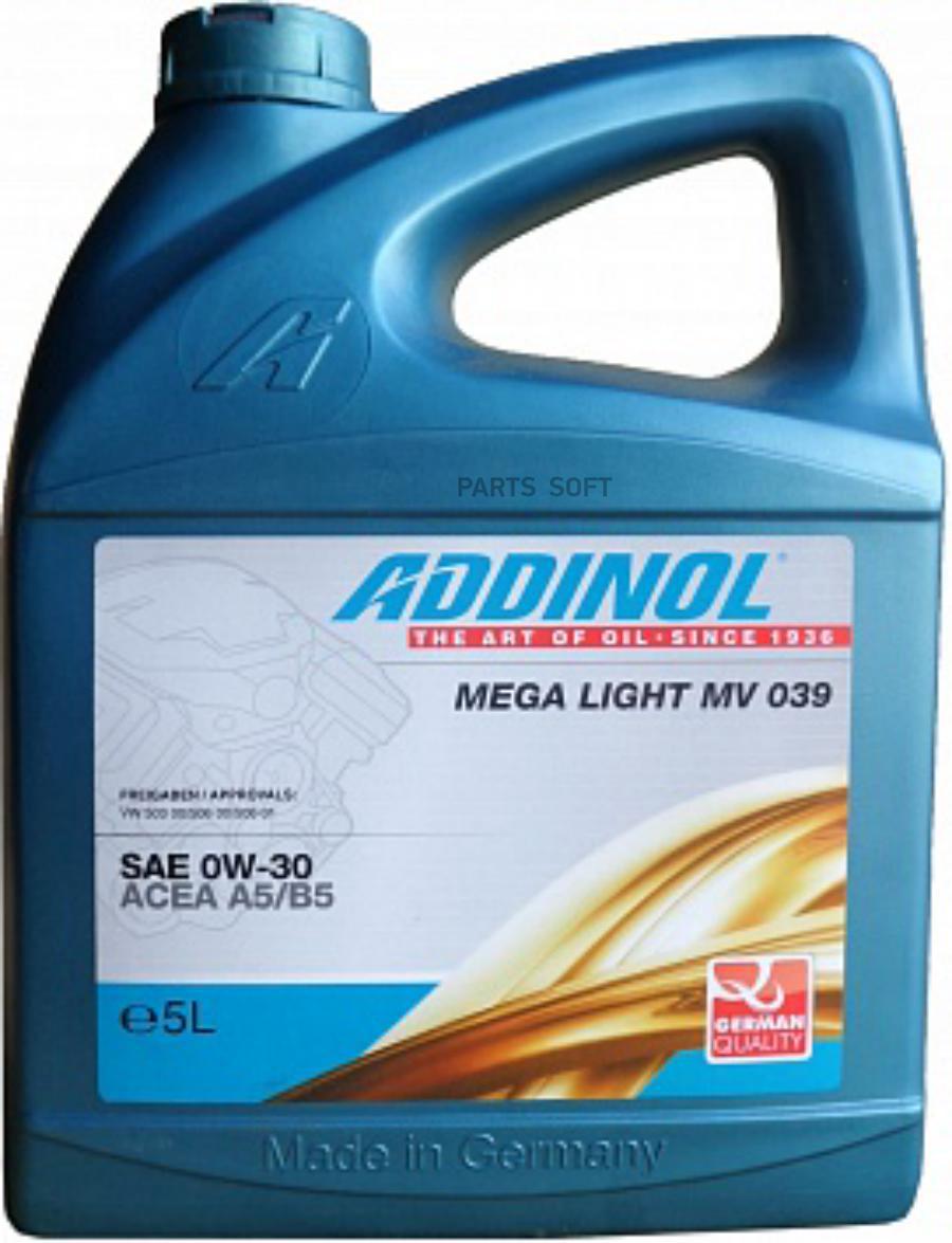 Моторное масло Mega Light MV 039