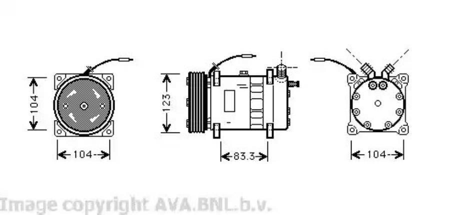 Фотография VOK102_Compressor Volvo 760 / 960
