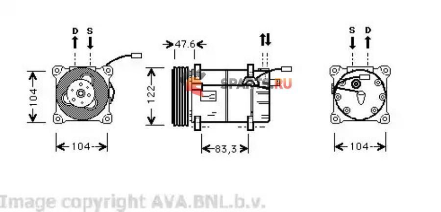 Фотография VOK109_Compressor 960 6cyl. 09/93-10/96