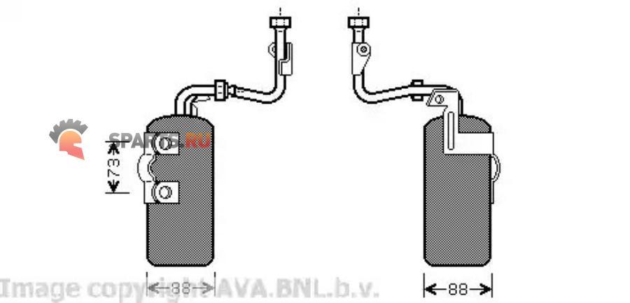 Фотография AVA VOD126_=NS95384=GR931432=8FT 351 335-111 30738666 осушитель конд. Volvo S40/V50 all 03