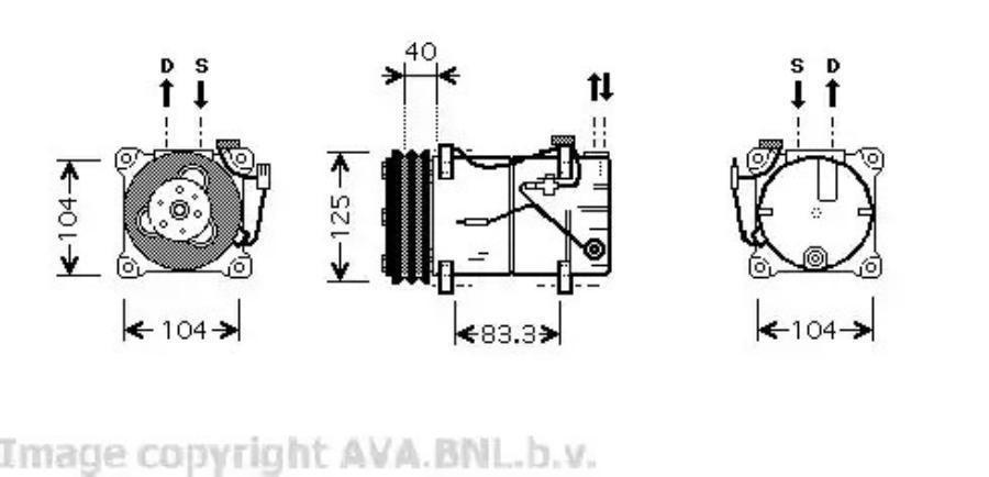 Фотография VOK119_Compressor Volvo 940