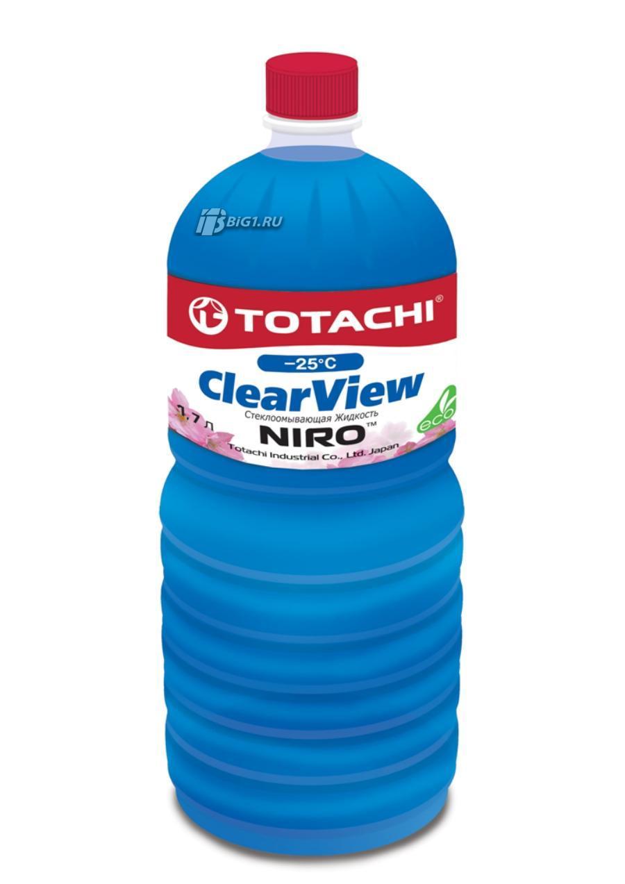 Жидкости для омывателя стекла TOTACHI NIRO CLEAR VIEW -25 гр. C, 1.7л