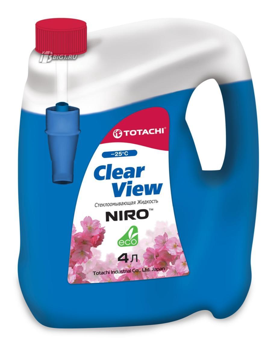 Жидкости для омывателя стекла TOTACHI NIRO CLEAR VIEW -25 гр. C, 4л