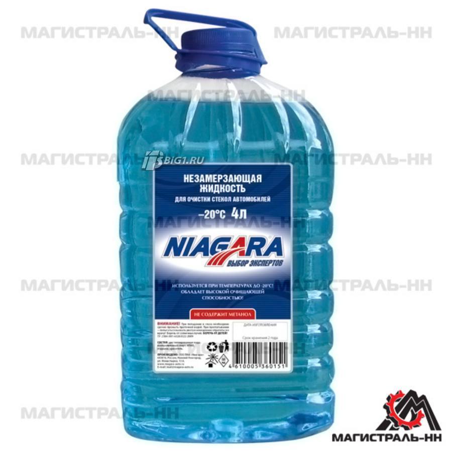 Жидкость для стекол Niagara -20, Русская баня, 4 л