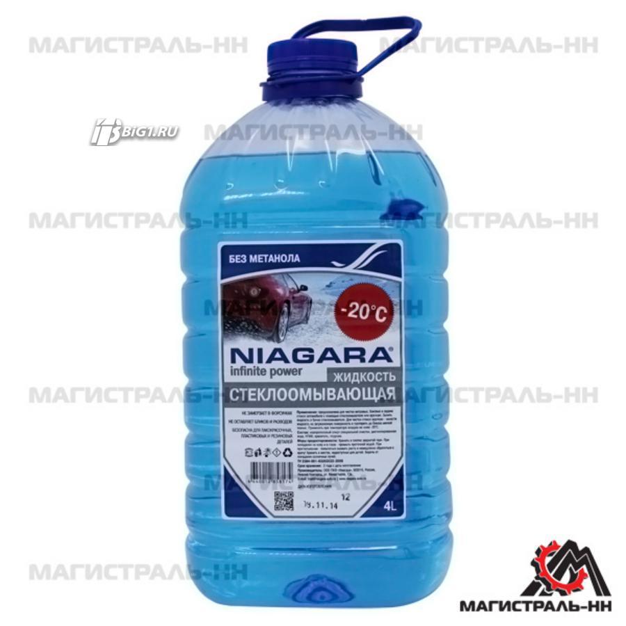 Жидкость омывания стекол Niagara -20, Red Bubble, 4 л