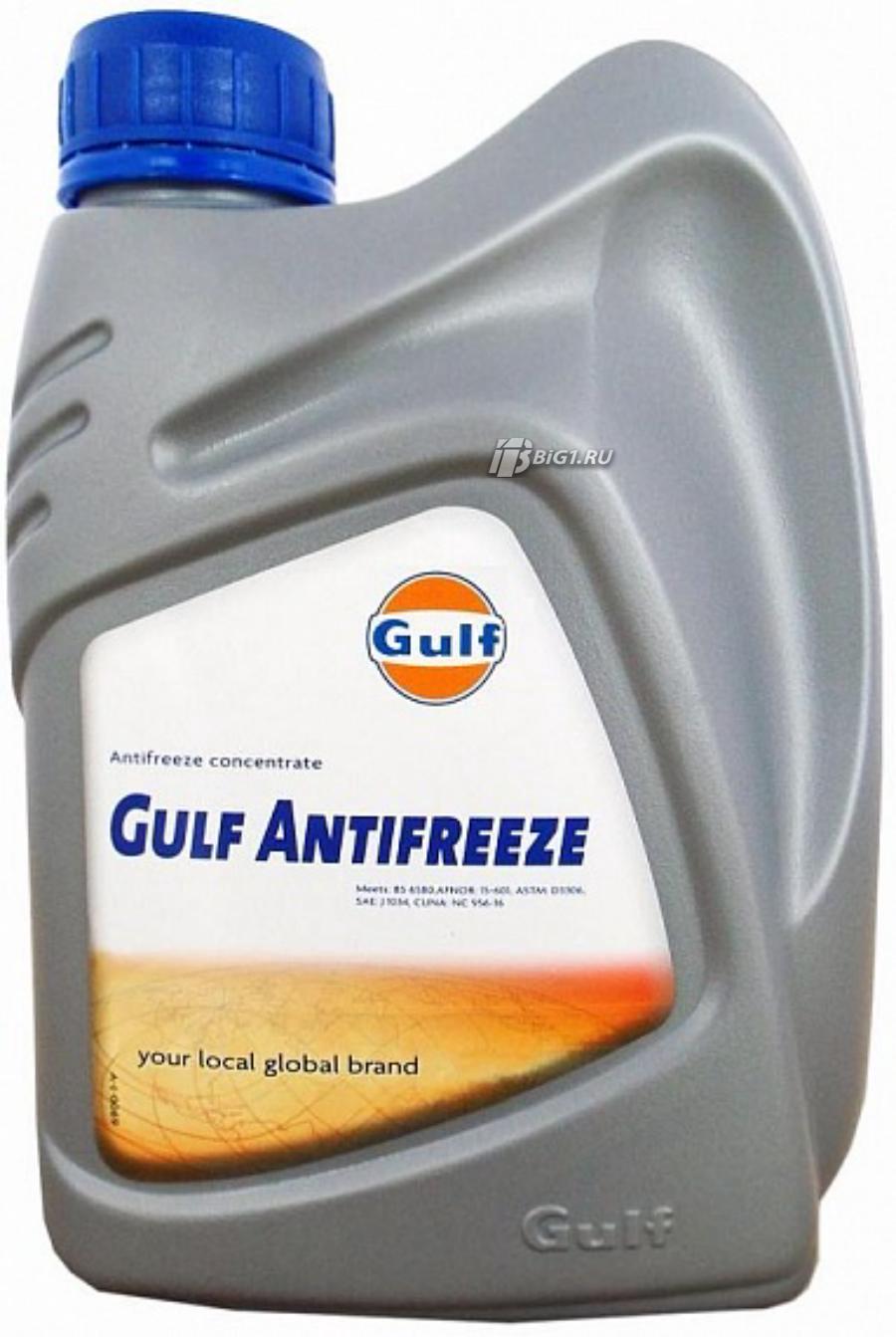 Антифриз концентрированный синий gulf antifreeze (1л)***
