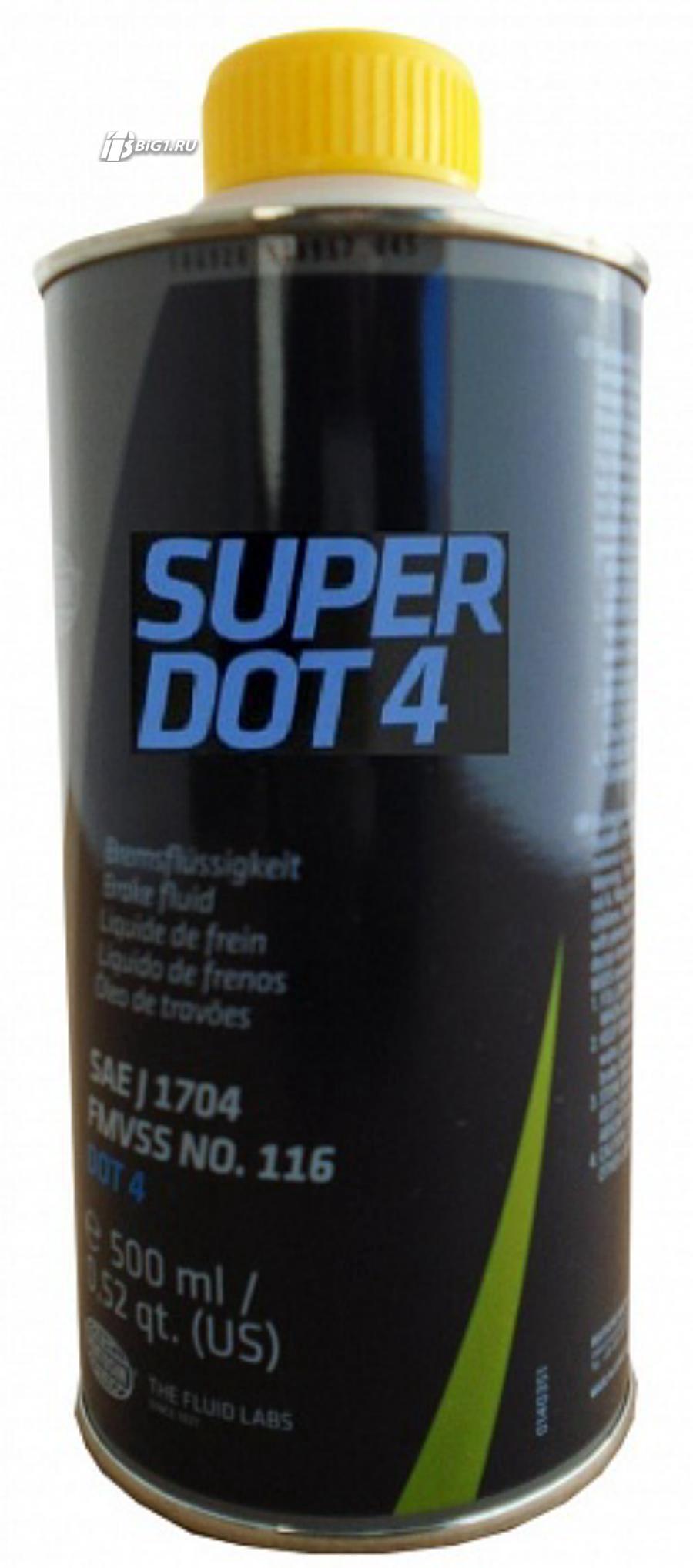Жидкость тормозная dot 4, 'SUPER', '0,5л