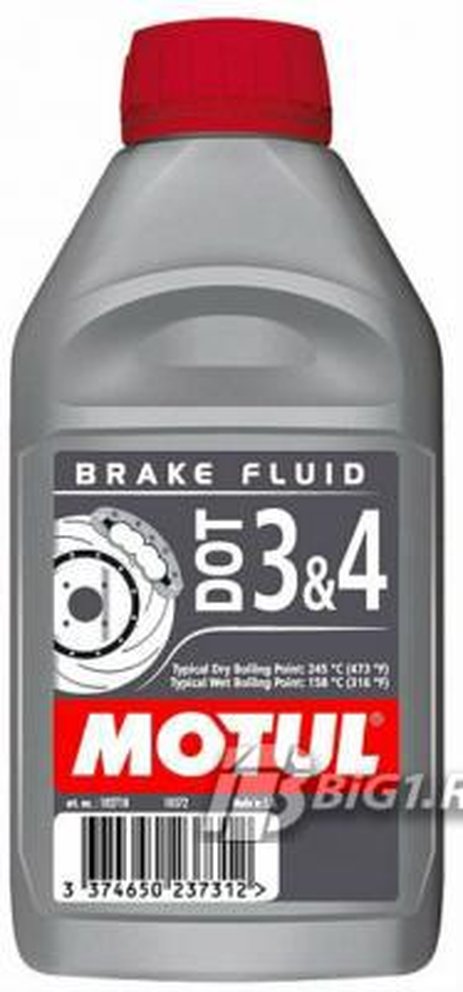 Жидкость тормозная DOT 3/4, 'BRAKE FLUID', 2'0л
