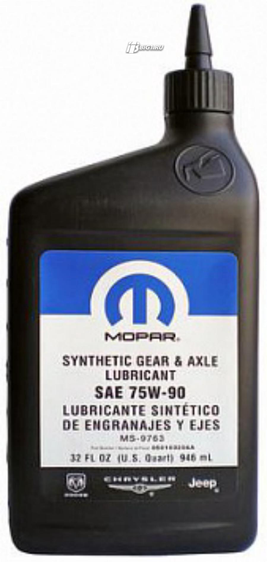 """Масло трансмиссионное синтетическое """"Synthetic Gear Lubricant 75W-90"""", 0.946л"""