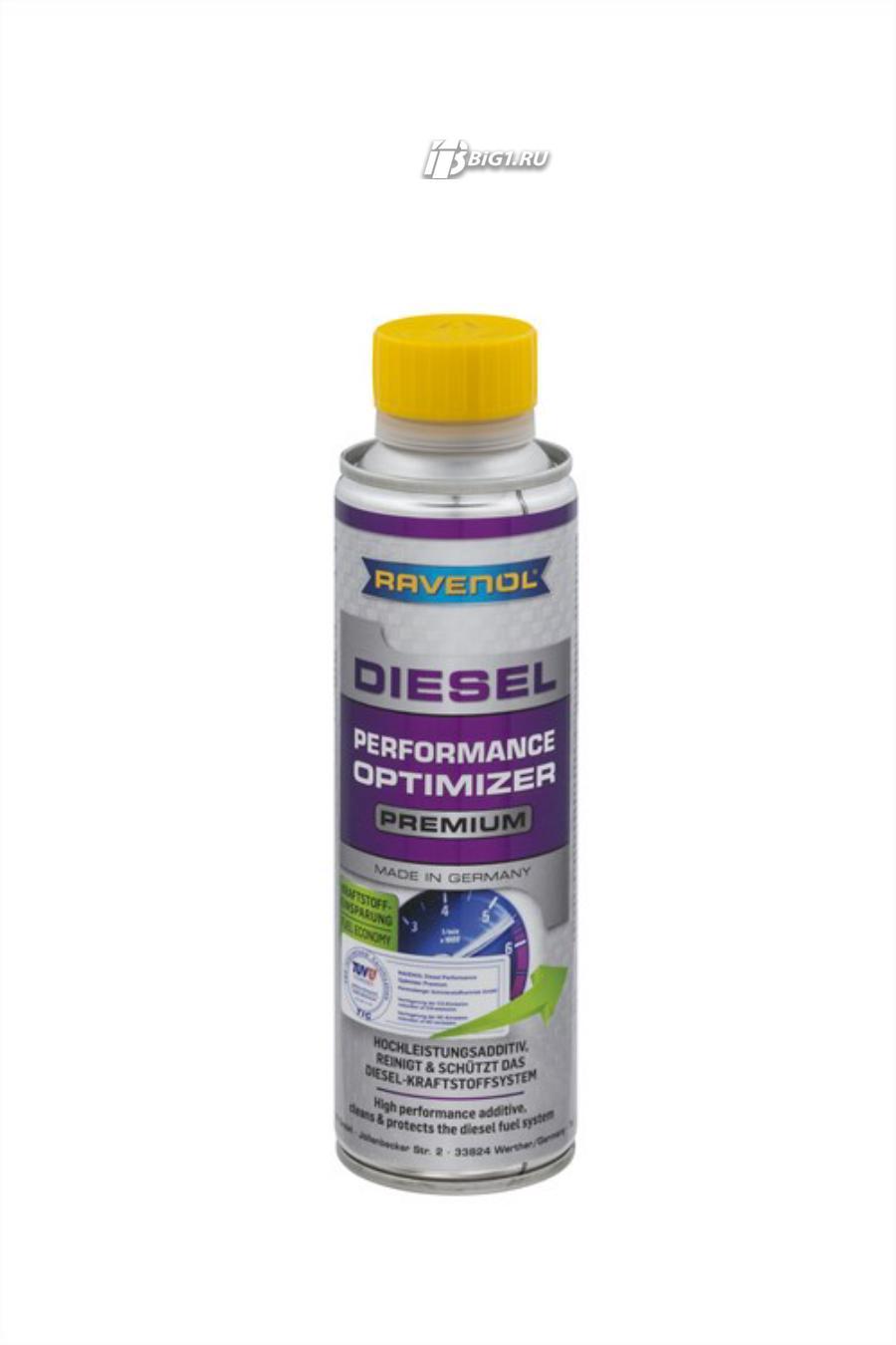 Комплексная присадка в дизельное топливо RAVENOL Diesel Performance Optimizer Premium (0,3 л)