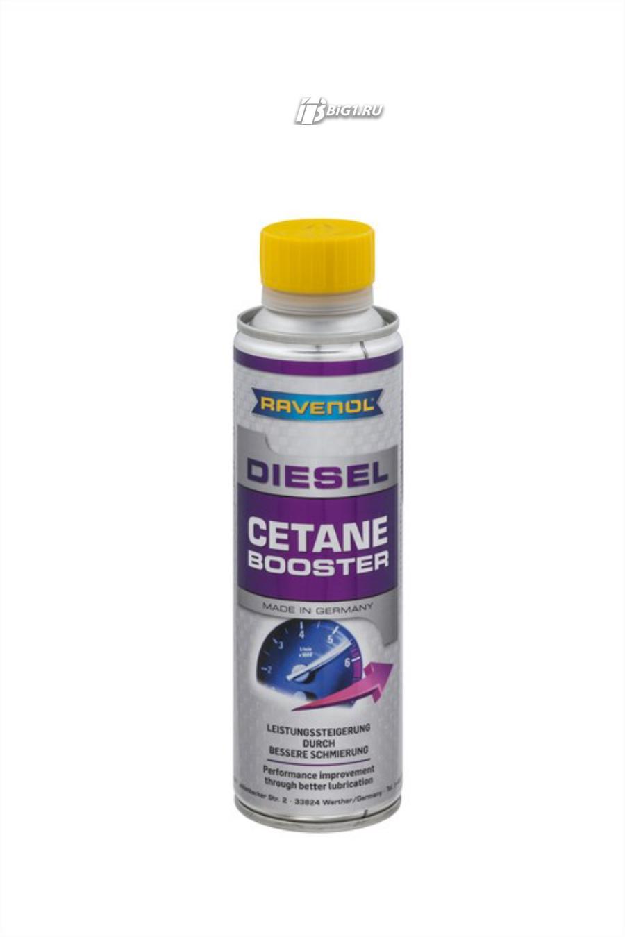 Присадка-корректор цетанового числа RAVENOL Diesel Cetane Booster (0,3 л)
