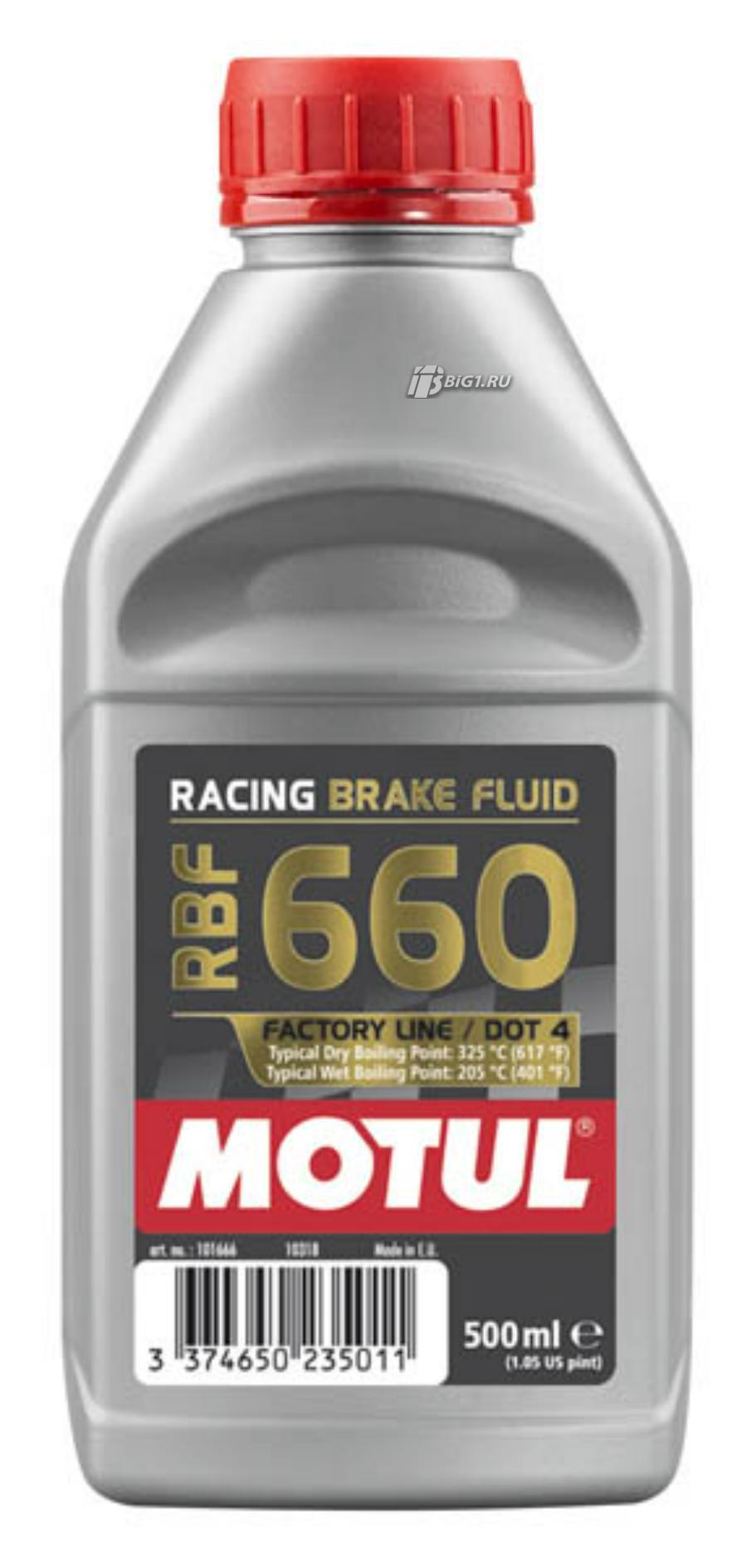 Жидкость тормозная DOT 3|DOT 4|DOT 5,1, 'RBF 66'0 Factory Line', '0,5л