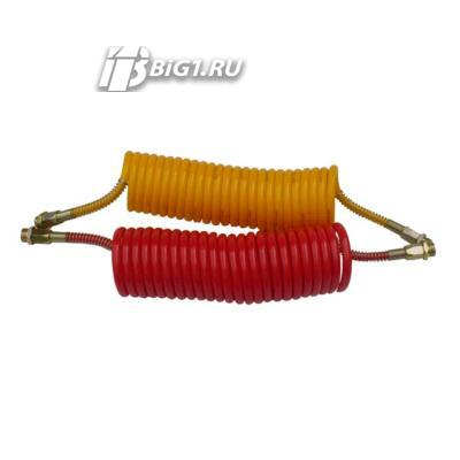 Спиральный шланг 6 м (Силиконовый, желтый, M22)