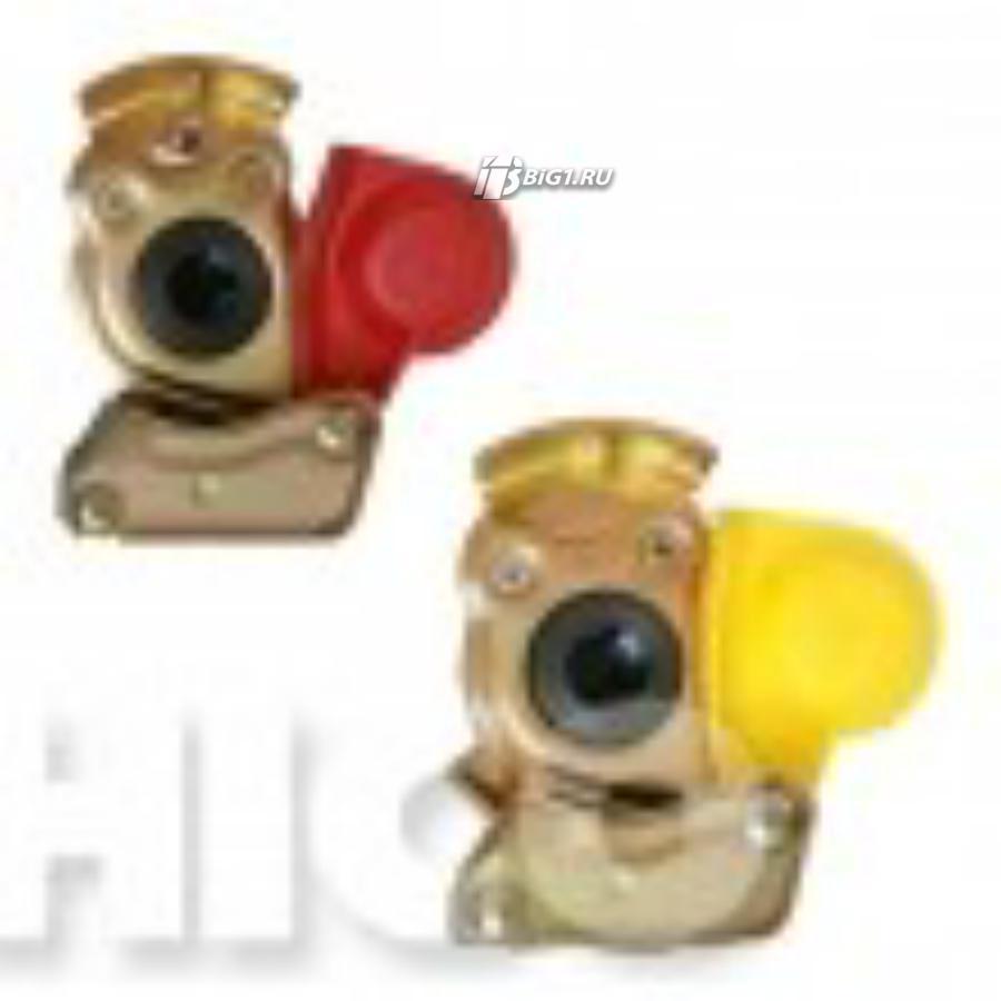 Пневматический фитинг (M22, желтый, с клапаном)