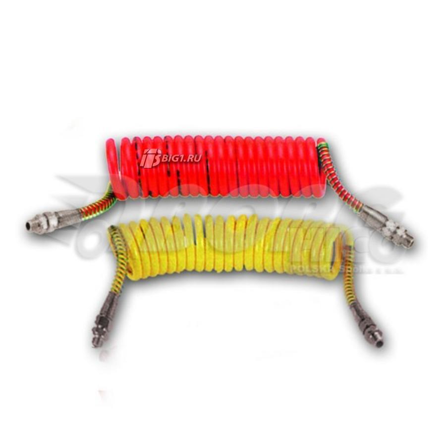 Спиральный шланг (Силиконовый, красный, M16)