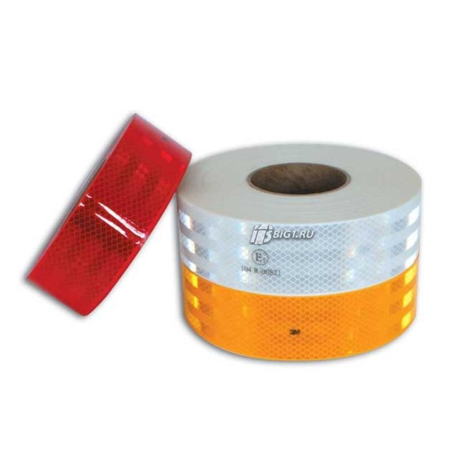 Контурная светоотражающая лента ECE UN 104 (Для контейнера, белая, 50м, 3M)