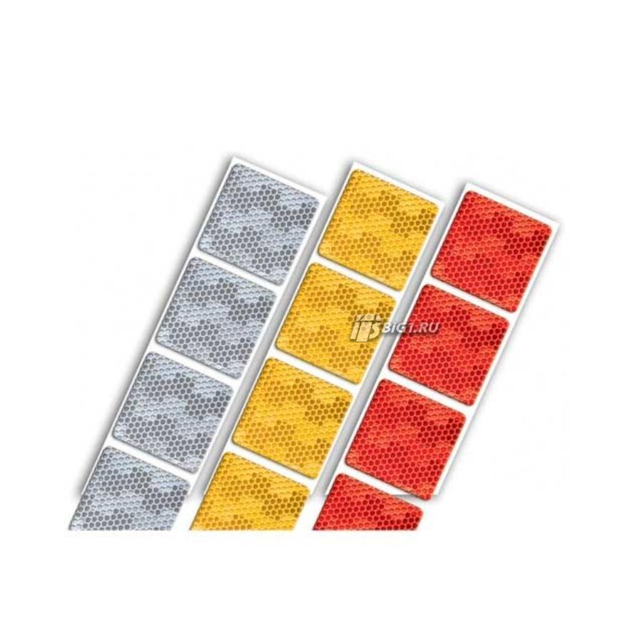 Контурная светоотражающая лента ECE UN 104 (Для тентов, желтая, 50м, AVERY)