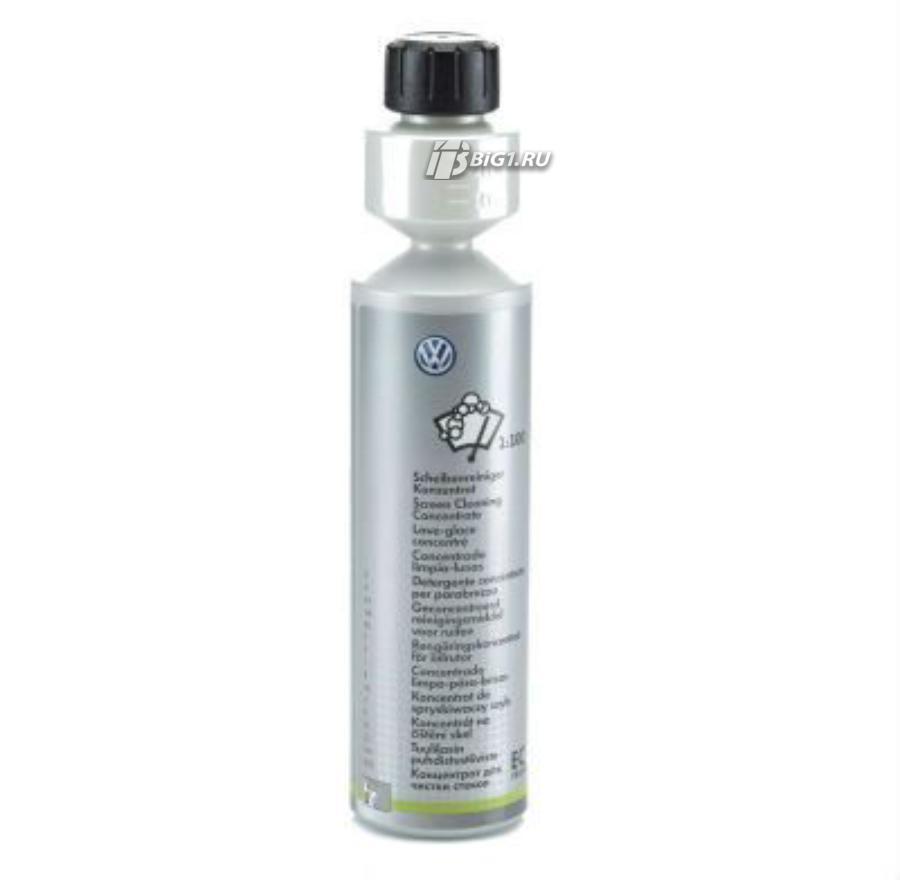 Чистящий концентрат Volkswagen для стекол соотношение 1:100 емкость 250 мл.