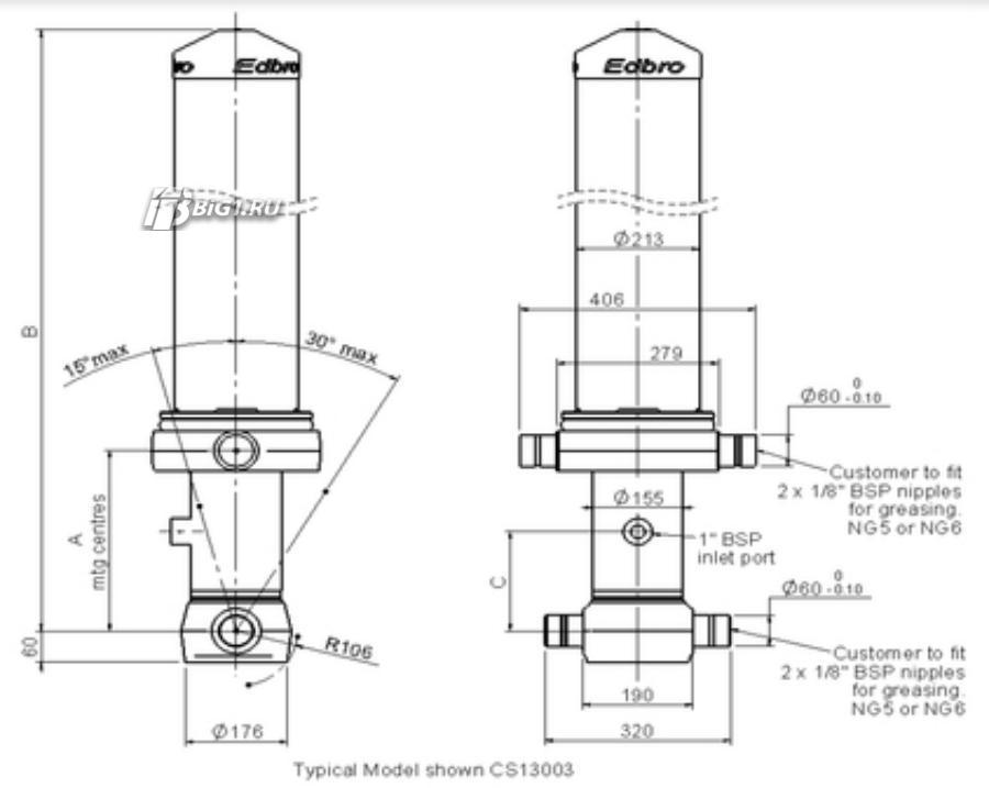Гидроцилиндр CS130043841B19A11