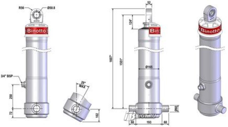 Гидроцилиндр MF B3 145-4-4910