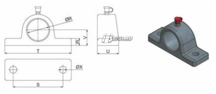 Кронштейн для цилиндров HYVA UM 129