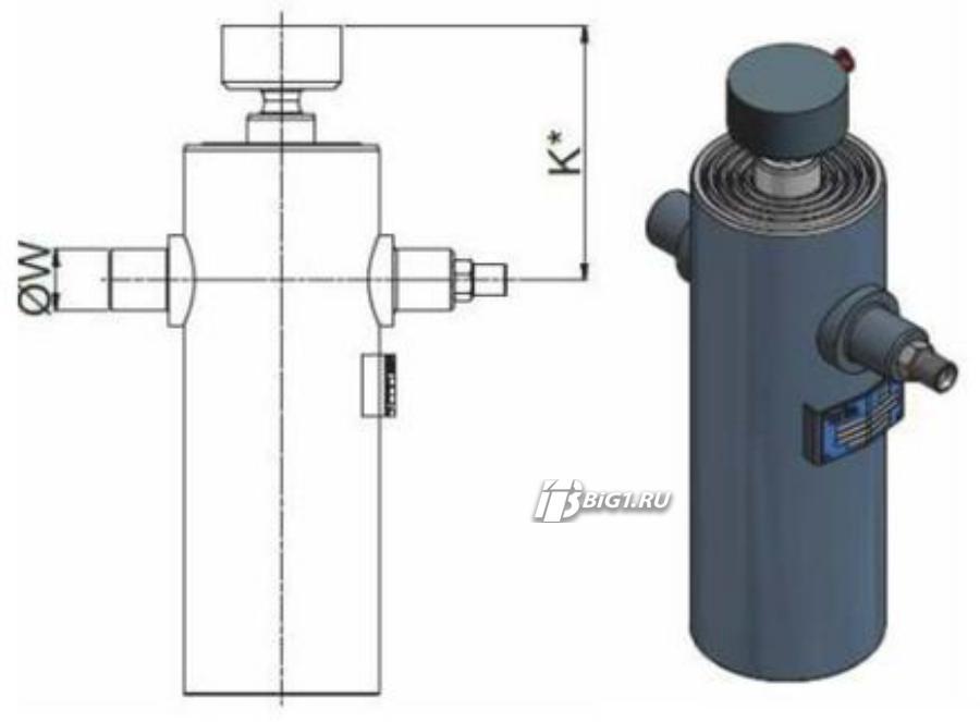 "Гидроцилиндр HYVA ULB 110-5-1740-K169-40-½""-HC"