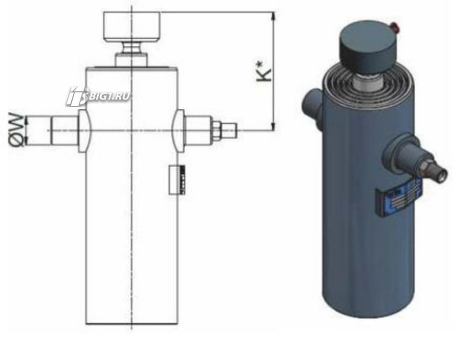 "Гидроцилиндр HYVA ULB 093-3-0925-K172-40-½""-HC"