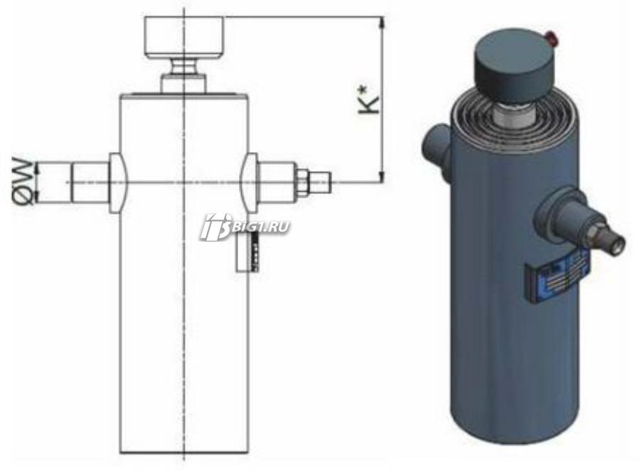 "Гидроцилиндр HYVA ULB 093-2-0770-K172-40-½""-HC"