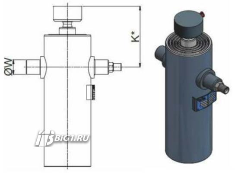 "Гидроцилиндр HYVA ULB 077-2-0770-K170-40-½""-HC"