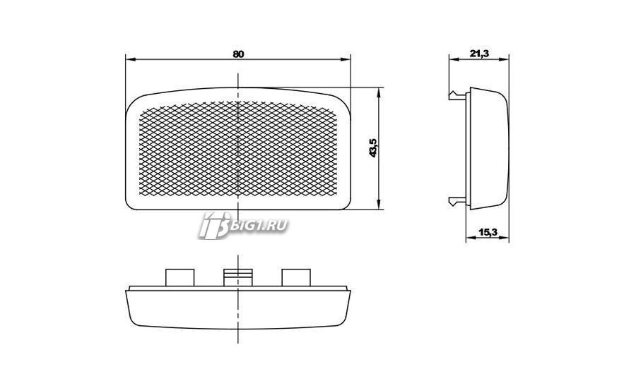 Стекло для лампы освещения автосалона для Fiat 126p/EL: KW 082