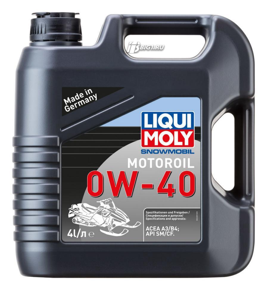 Масло моторное синтетическое Snowmobil Motoroil 0W-40, 1л