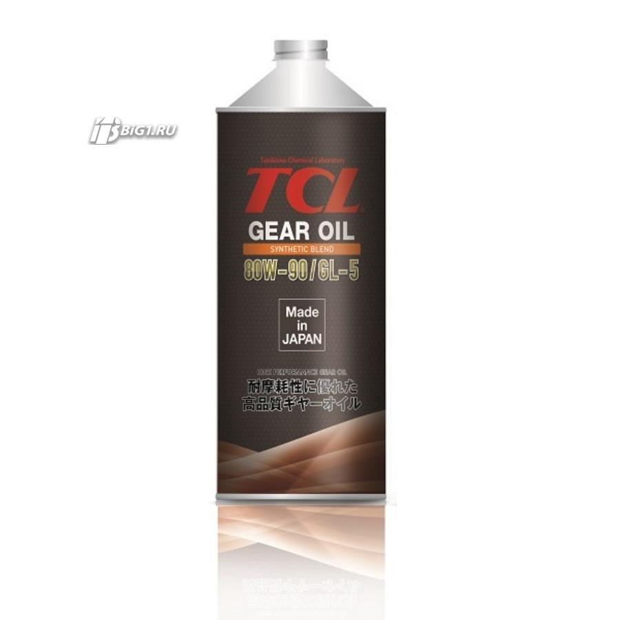 Масло трансмиссионное tcl gear 80w-90, synth blend, gl-5, 1л