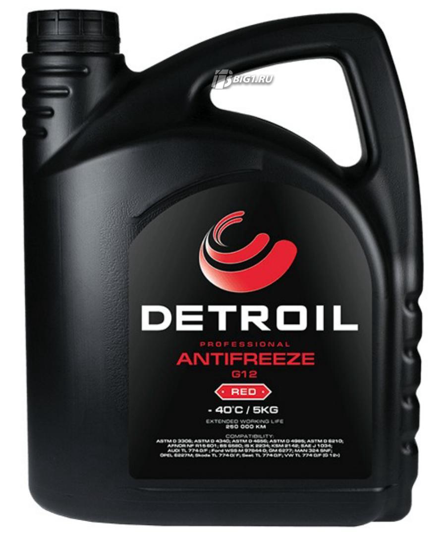 Охлаждающая жидкость DETROIL Antifreeze G12 RED (5кг)