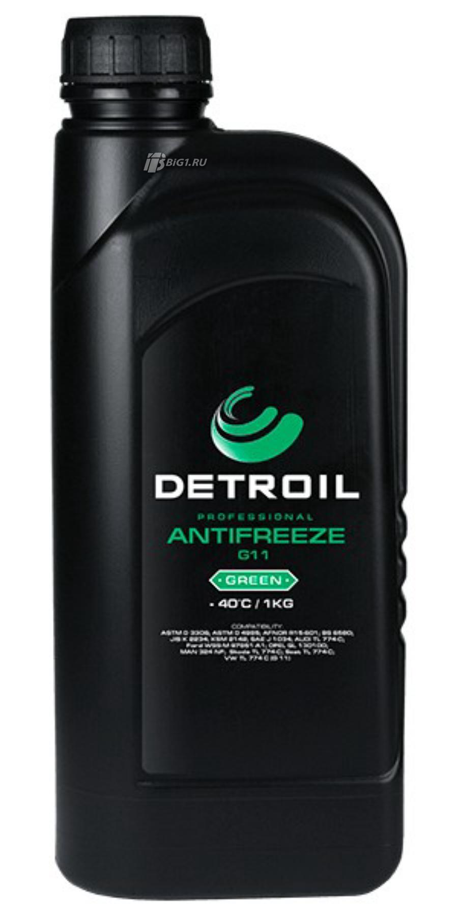 Охлаждающая жидкость DETROIL Antifreeze G11 GREEN (1кг)