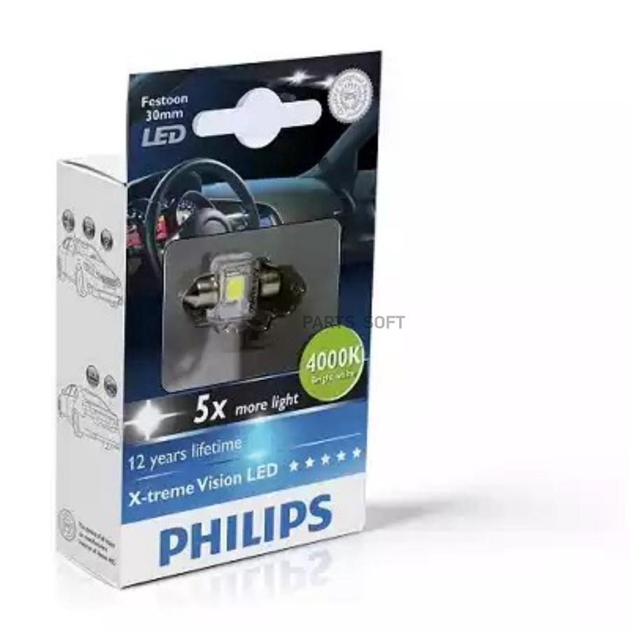 Лампа салона Fest 14x30 LED 12940 4000K 12V 1W