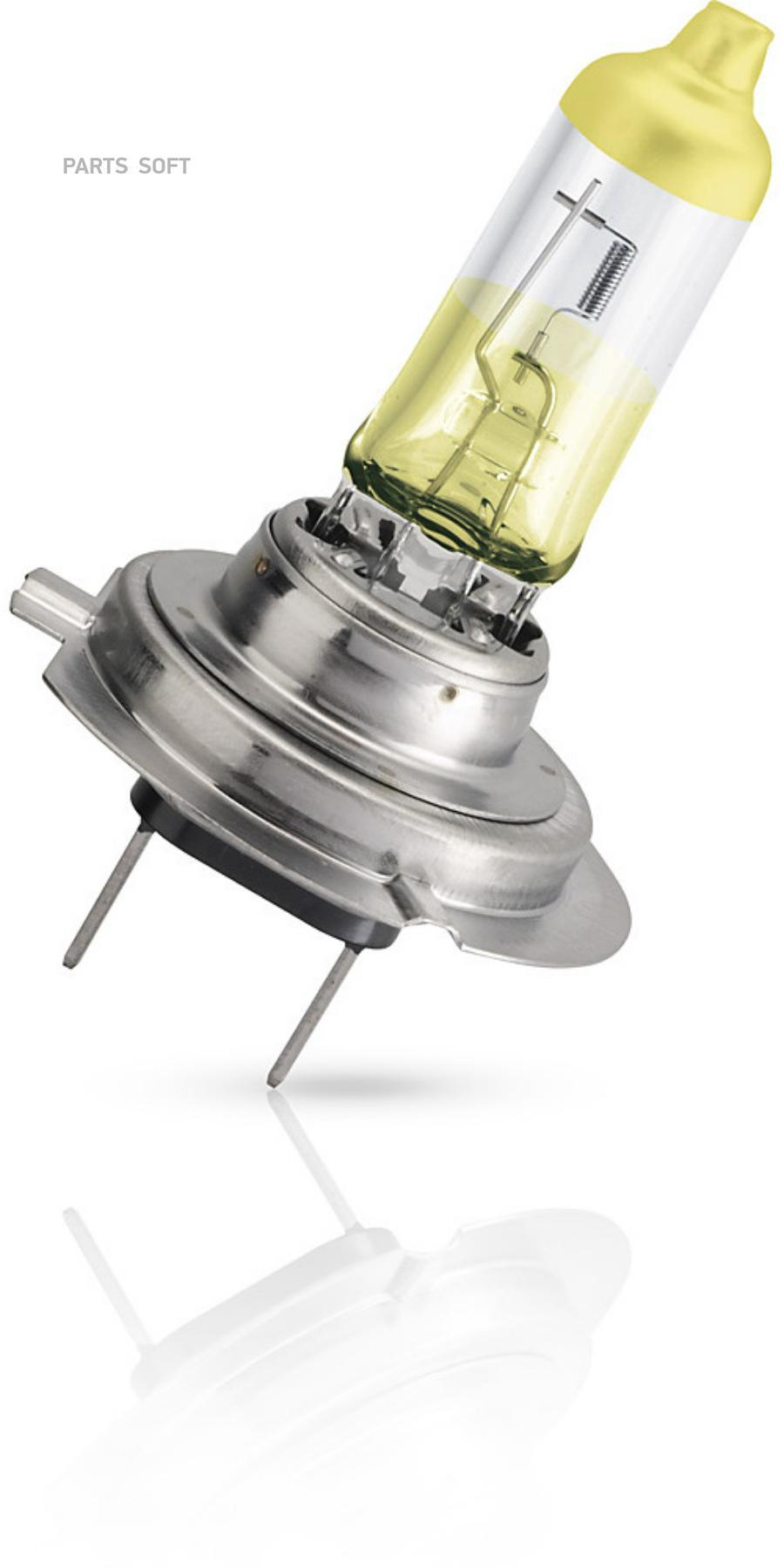 Лампа галогеновая H7 ColorVision +60% желтый 12V 55W PX26d S2