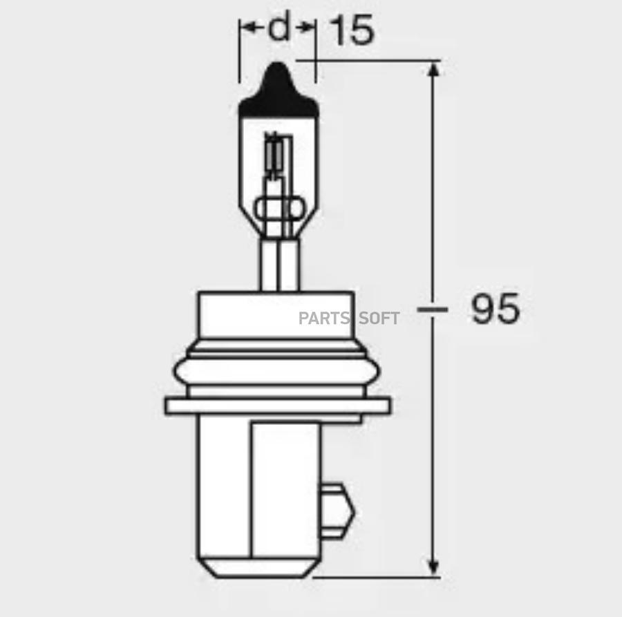 Лампа HB5 12V 65/55W PX29t ORIGINAL LINE качество оригинальной з/ч (ОЕМ) 1 шт.