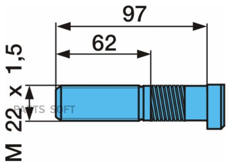 Болт крепления колеса (спиральный болт)