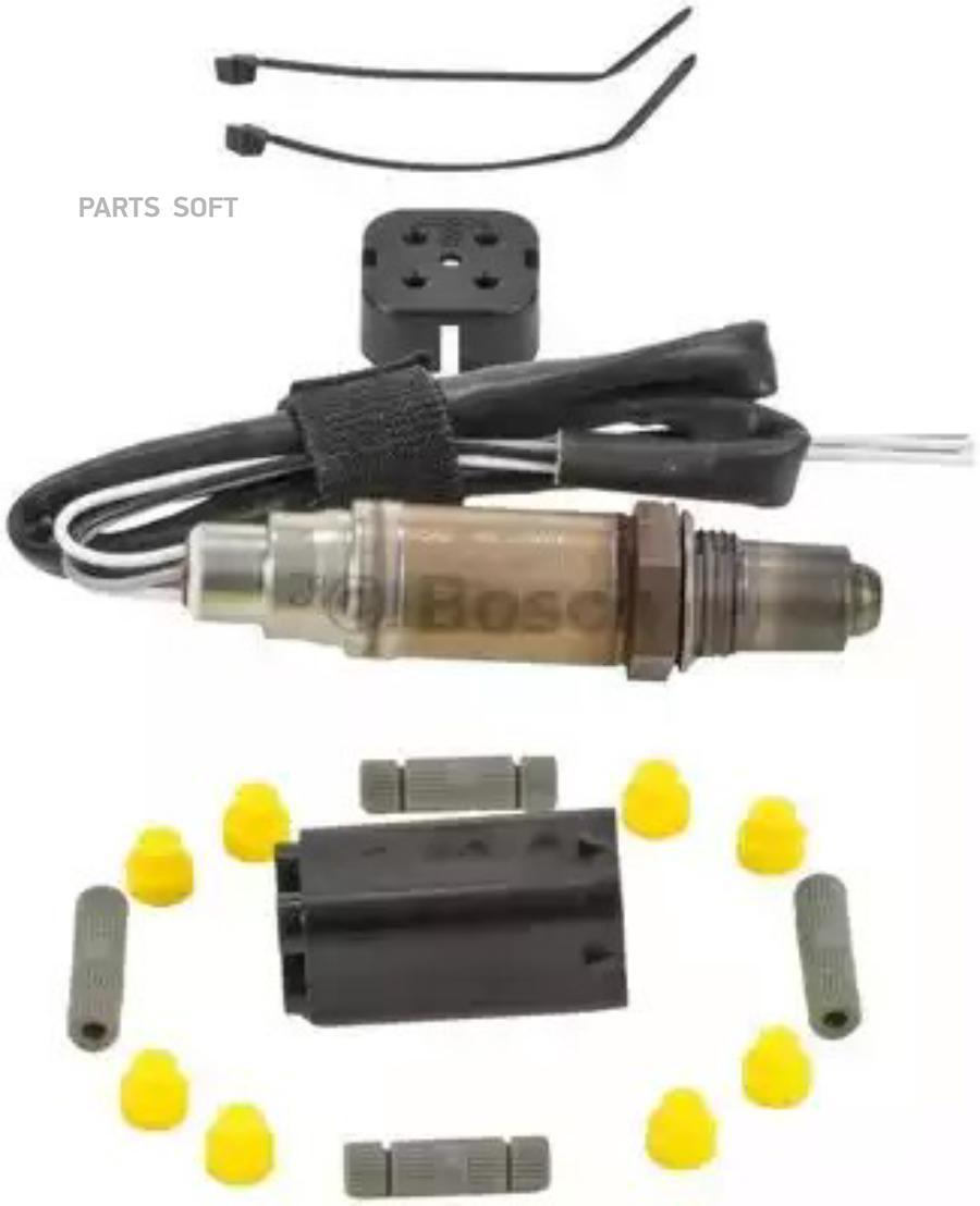 Датчик кислородный универсальный 4 провода Bosch 0258986507