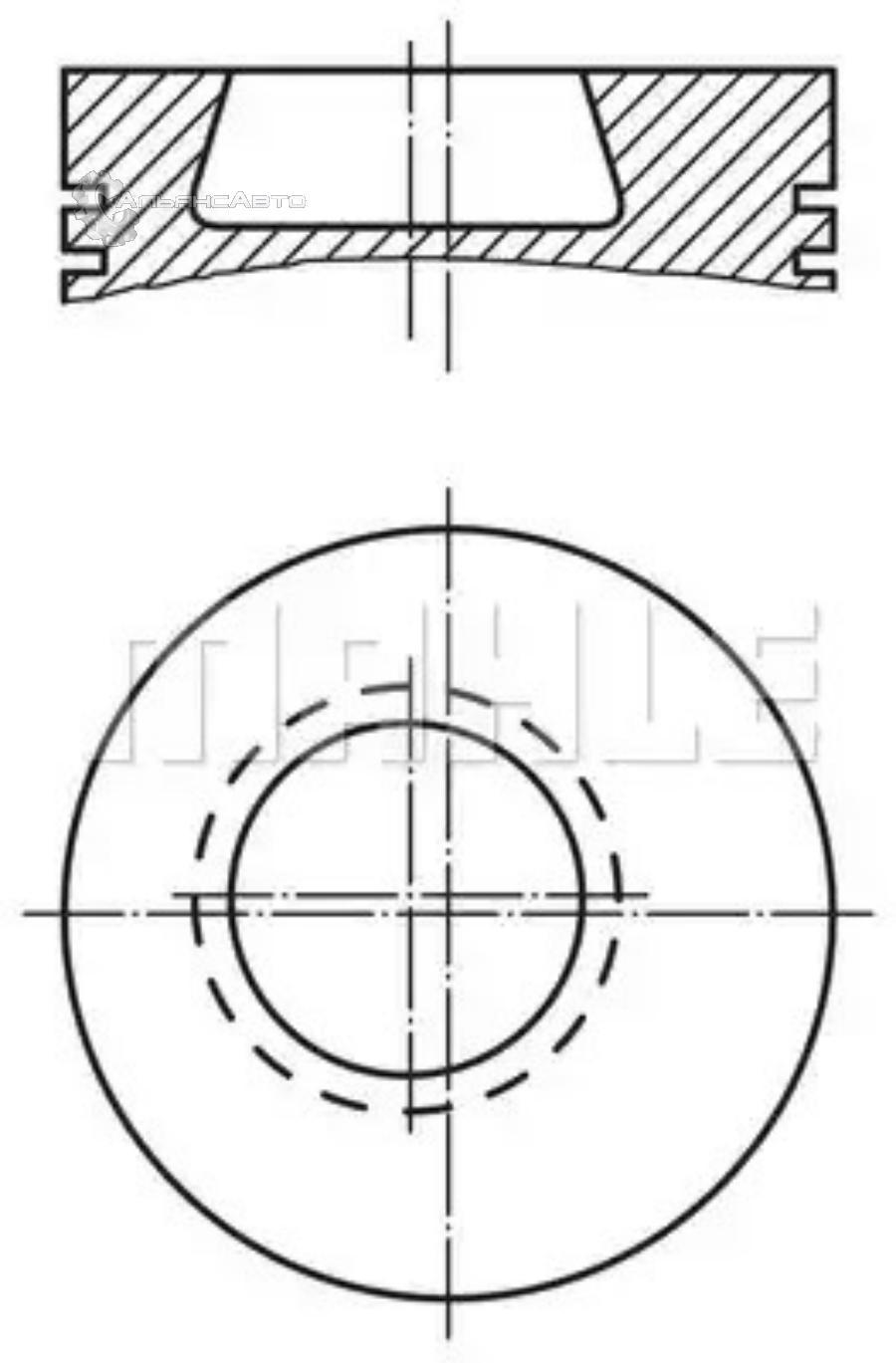 Поршнекомплект  d97.5  93951600  MAHLE  МВ ОМ364/366 STD 3 кольца R4/6  0028000    (3660372001/3660302117)