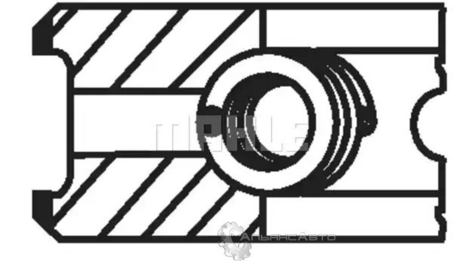 кольца поршневые ДВС MB Axor OM457 STD d128  (к-кт 1 цил.) 3*3*4 Euro3  4600300124  00135N0  MAHLE
