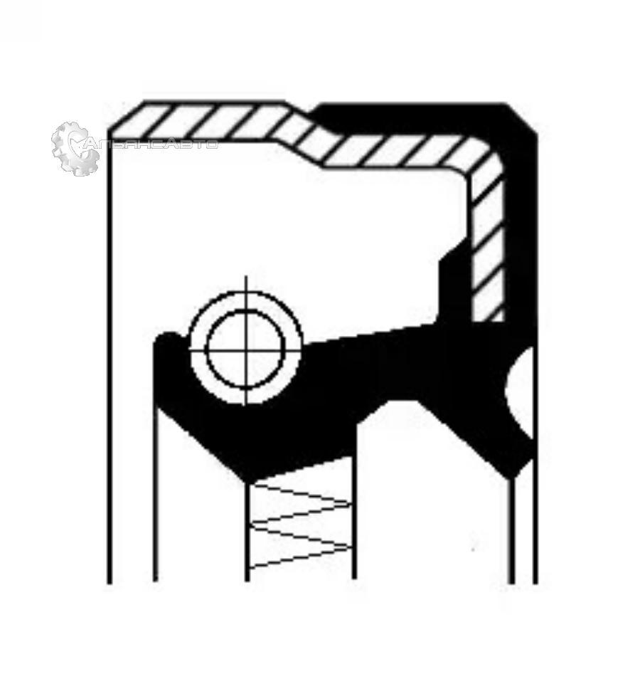 Уплотняющее кольцо, ступенчатая коробка передач; Уплотняющее кольцо, дифференциал