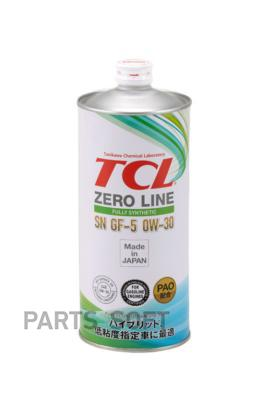Масло моторное TCL Zero Line Fully Synth, Fuel Economy, SN, GF-5, 0W30, 1л